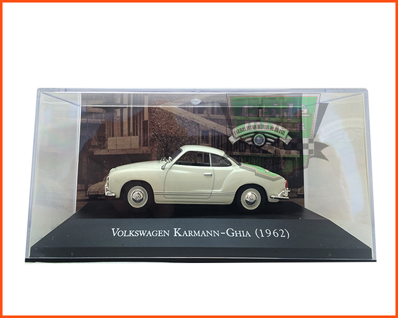 VW Karmann Ghia 1962 - Carros Nacionais - escala 1/43