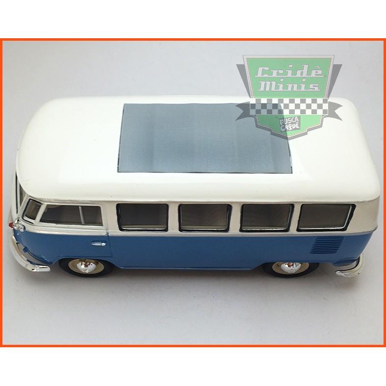 VW Kombi De Luxo Azul - Teto solar - escala 1/24
