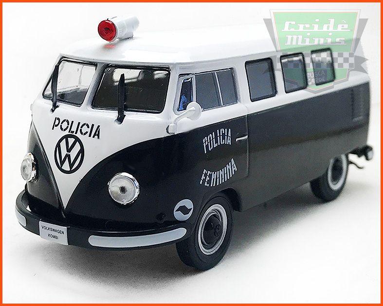 VW Kombi Polícia Civil Feminina SP - Carros Nacionais - escala 1/43
