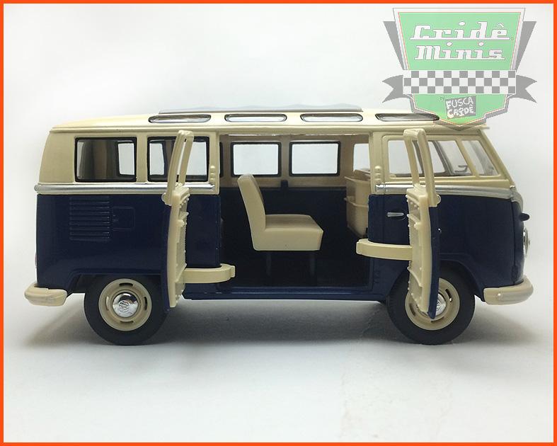 VW Kombi Samba 1962 - azul - escala 1/24