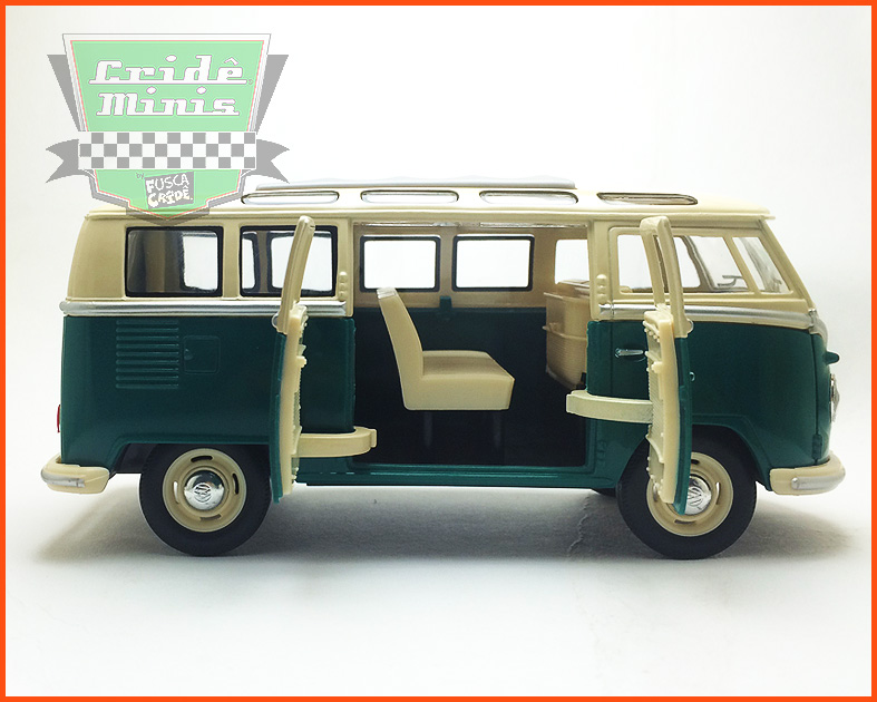 VW Kombi Samba 1962 - verde - escala 1/24