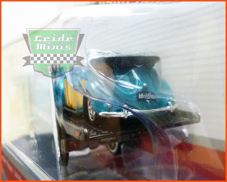 Fusca VW Cabriolet com Guincho Plataforma - escala 1/64