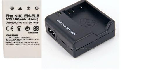 Kit Bateria + Carregador En-el5 Enel5 Para Nikon Coolpix P530