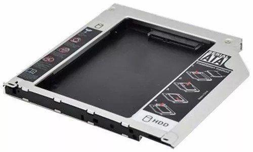 Adaptador Dvd Para Hd Ou Ssd Sata Notebook Drive Caddy 9,5mm