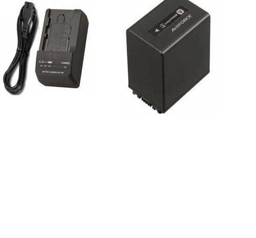 Kit Bateria FV100 + Carregador Np-fv100 Para Sony Dcr-sr68 Dcr-sx43