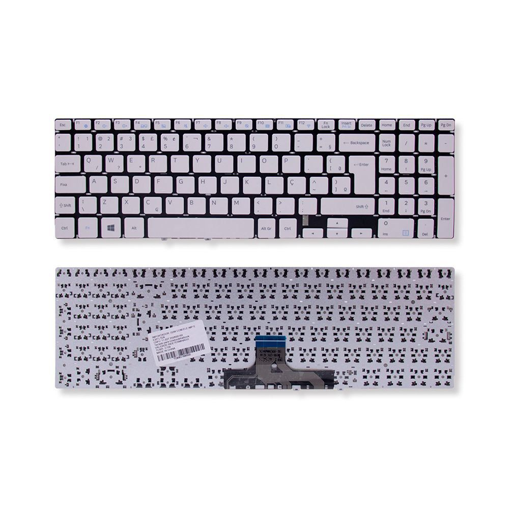 Teclado Notebook Samsung Expert X24 Np300e5k Branco Br Com Ç
