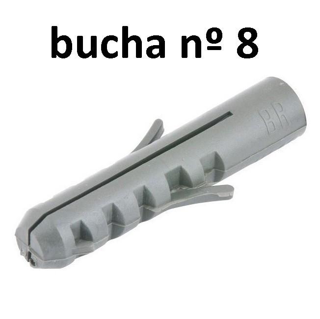 1000 Bucha Fixação Nylon 8 Mm Parede Madeira Suporte 3rs  - EMPORIO K