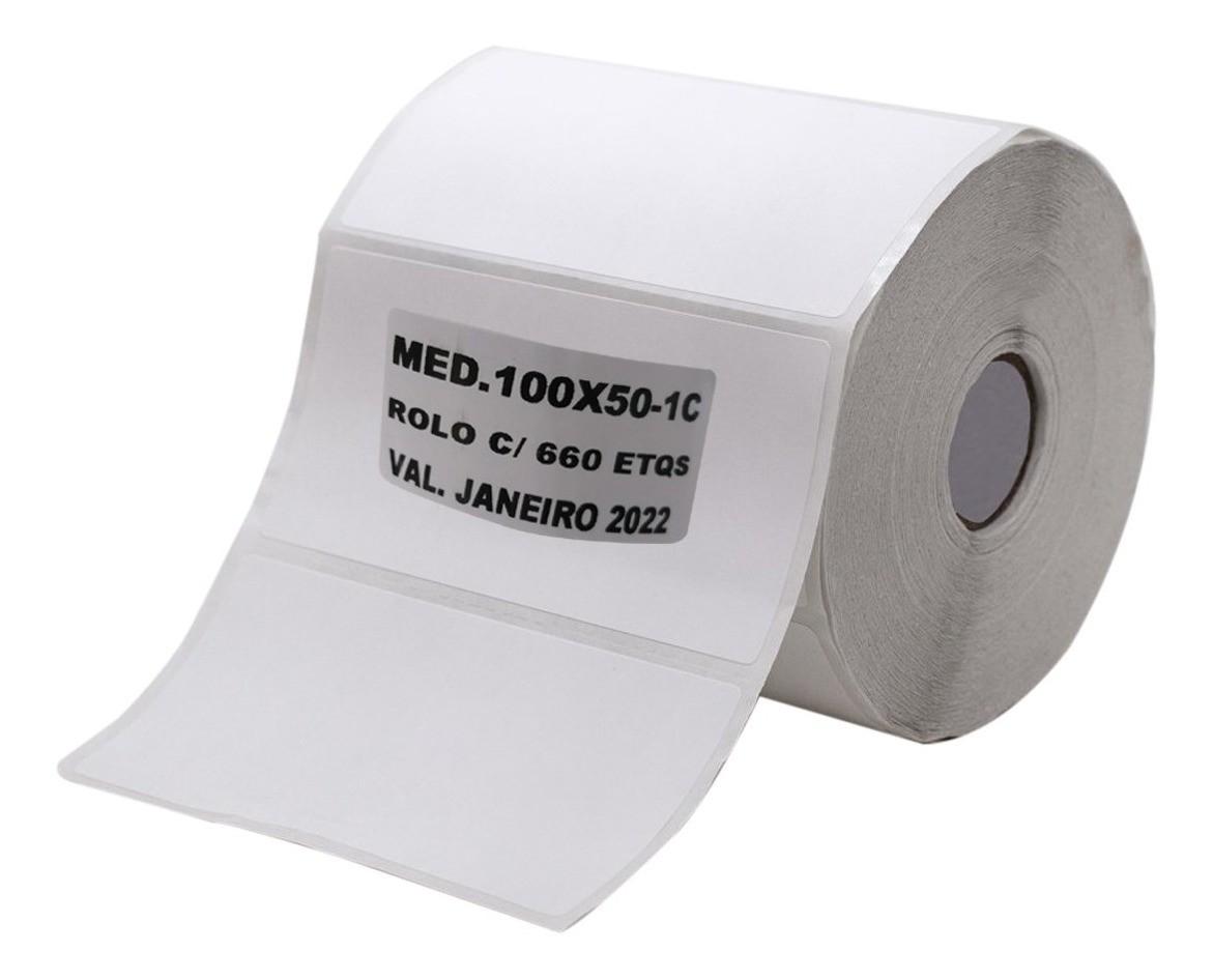 10 Rolos de Etiqueta Couche Adesiva 100x50 Mm 660 Etiquetas  - EMPORIO K