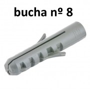 1000 Bucha Fixação Nylon 8 Mm Parede Madeira Suporte 3rs