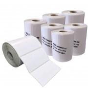 10 Rolos de Etiqueta Couche Adesiva 100x50 Mm 660 Etiquetas