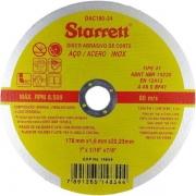 12 Disco De Corte 7 1/6 Aço Inox Dac 180-24 Starrett 1,6mm