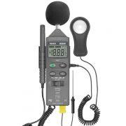 Medidor  4x1 Decibelimetro Luximetro Temperatura Umidade HTM-401 Hikari
