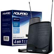 Antena Interna Digital Para Vhf Uhf Hdtv Fm Dtv 1100 Aquário