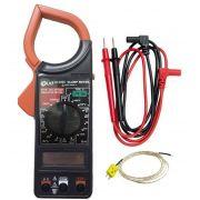 Alicate Amperímetro Digital Med Temperatura Ld-266C Loud