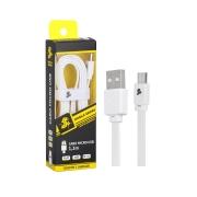 Cabo tipo C + USB A macho - 5GB - 1.20M - branco 018-0052