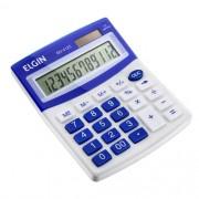 Calculadora Mesa Comercial Escritório 12 Dígitos Elgin Azul