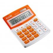 Calculadora Mesa Comercial Escritório 12 Dígitos Elgin Laranja