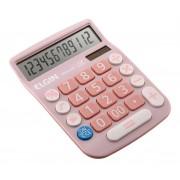 Calculadora Mesa Comercial Escritório 12 Dígitos Elgin Rosa
