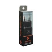 Carregador USB Mobile 5V 2.1A Preto 5+ CHIP SCE 044-0002