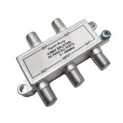 Divisor De Sinal 1 X 4  Vhf/Uhf/Catv Alta Frequencia