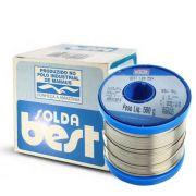 Estanho Solda Fluxo Best 500gr 60x40 Rolo Carretel 1.5mm Azul