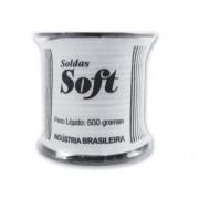 Fio De Solda Cheio 50x50 Estanho 500g Preto 2.4mm Soft