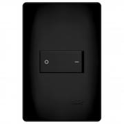 Interruptor Bipolar Simples 4x2 20A Preto Fosco Black Fame