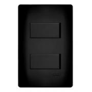 Interruptor Duplo Simples 4x2 Preta Fame
