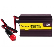 Inversor De Tensão 12v Para 127v 150w 1 Usb Green