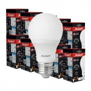 Kit 10 Lampada led bulbo 9w Avant