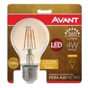 Lampada Retro A60 Filamento Led 4w Bivolt Âmbar 2200k Avant