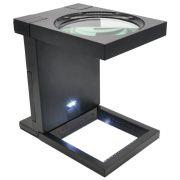 Lupa Conta Fios Aumento 2,5D Portátil e Dobrável Solver SLF-190 LED