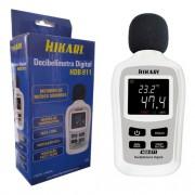 Mini Decibelímetro Digital Profissional Hdb-911 Hikari