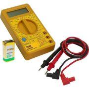 Multímetro Digital Dt-830D Com Ponta De Prova e Buzzer  TOZZ