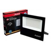 Refletor Led Cob Slim Ip65 Branco Quente 3000k 100w Avant