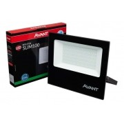Refletor Led Cob Slim Ip65 Verde 100w Avant