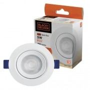 Spot Led Redondo ECO Branco Frio 6500k 5w Black + Decker