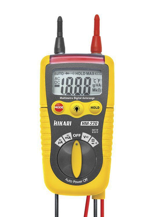 Multímetro Digital Hikari Hm-220 Automatico Ac Dc  - EMPORIO K