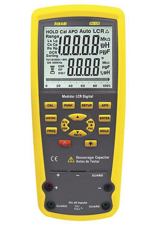 Medidor Lcr Profissional Capacimetro Indutancia Hx-120 Hikari  - EMPORIO K