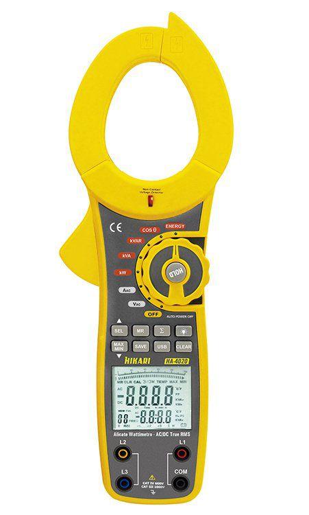 Alicate Wattimetro True Rms Trifasico Hikari HA-4020  - EMPORIO K