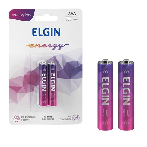 2 Pilha Recarregavel Palito Aaa Blister Energy Elgin  - EMPORIO K