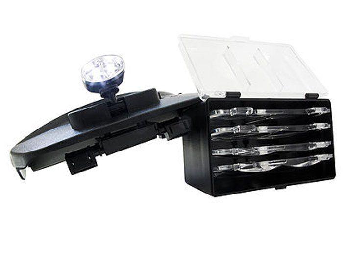 Lupa de Cabeça com Led e conjunto de 4 Lentes SLC-1009 Solver  - EMPORIO K