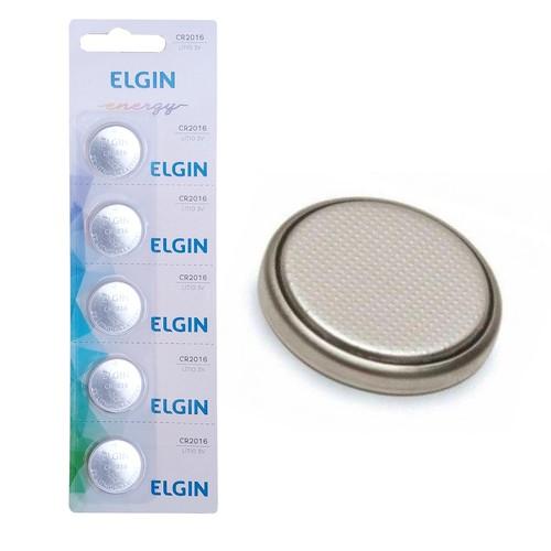 5 Bateria Moeda Botão 3v Lítio Blister Cr-2016 Elgin  - EMPORIO K