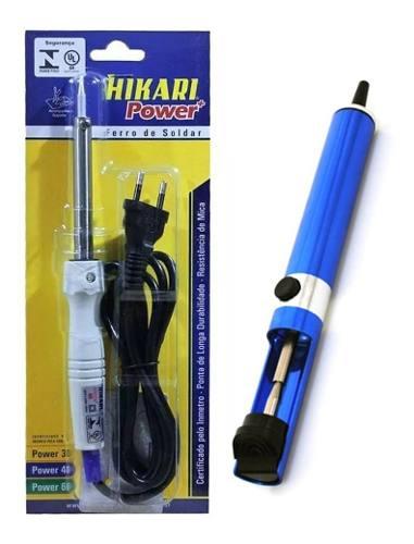 Kit Ferro Soldar Hikari Power + Sugador Hk-192 Hikari  - EMPORIO K