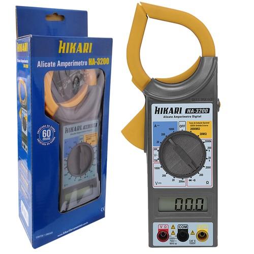 Alicate Amperimetro Digital Ha-3200 Hikari  - EMPORIO K