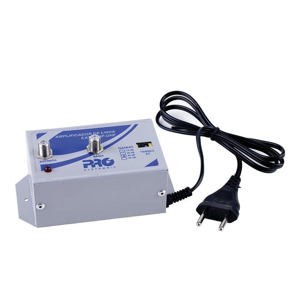 Amplificador De Linha Vhf/ Uhf/ Catv 30 Db Bivolt PQAL-3000  - EMPORIO K
