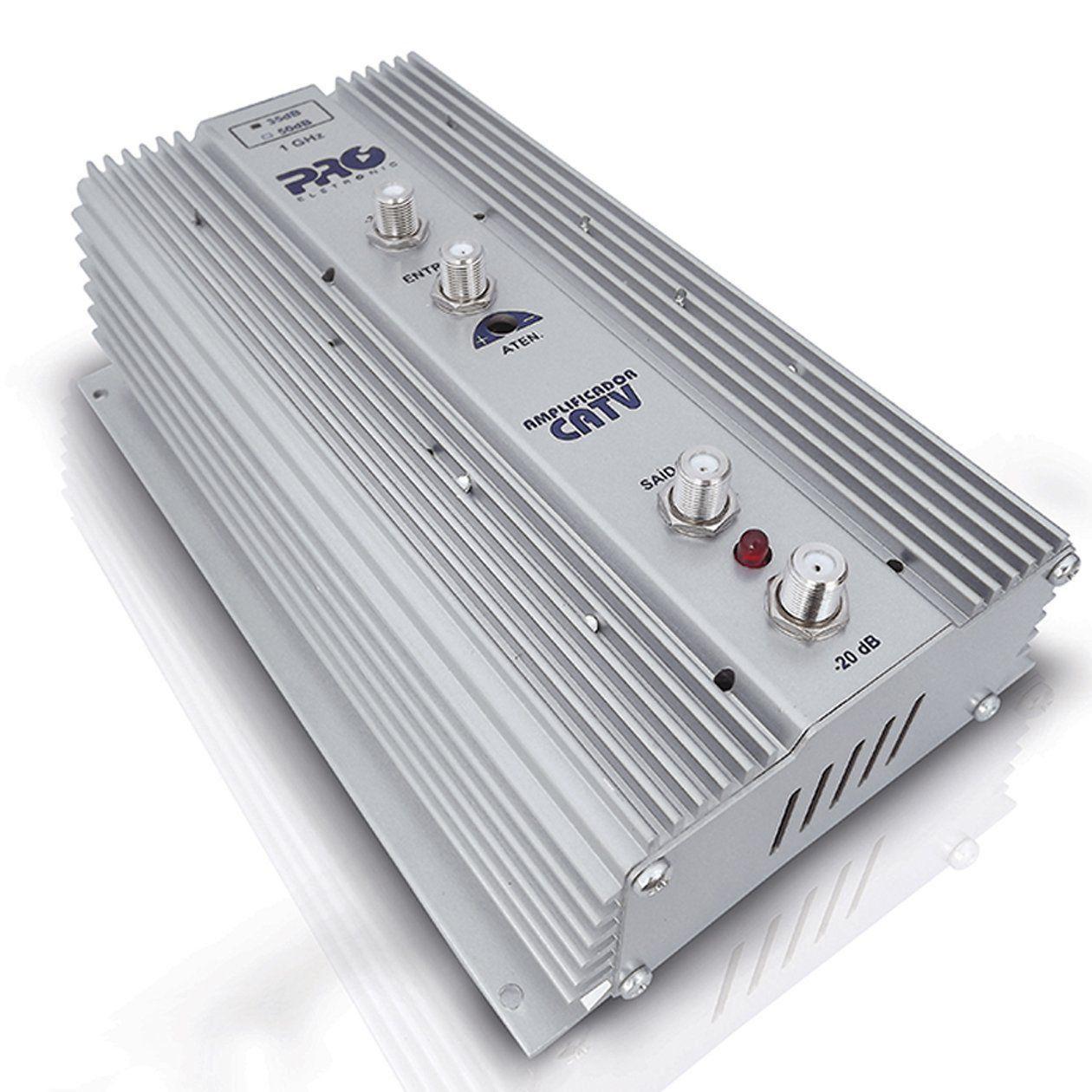 Amplificador de Potência Uhf Vhf Catv 35dB PQAP-6350  - EMPORIO K