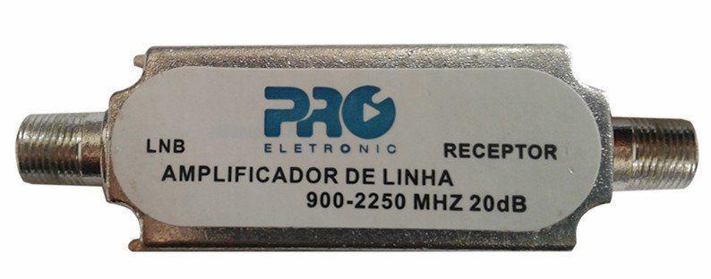 Amplificador Linha  Pqal 2010 20db Proeletronic Satelite Antena Parabolica  - EMPORIO K