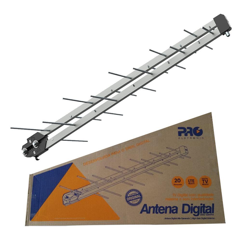 Antena Digital Uhf Log Black Prohd-1040db Lte Proeletronic  - EMPORIO K