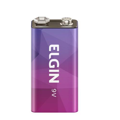 Bateria 9V recarregavel Elgin  - EMPORIO K